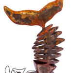 Beleuchteter Bronzefisch